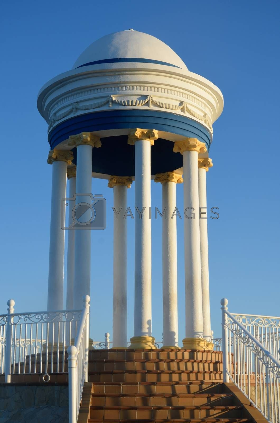 White Dome with Blue Sky in background