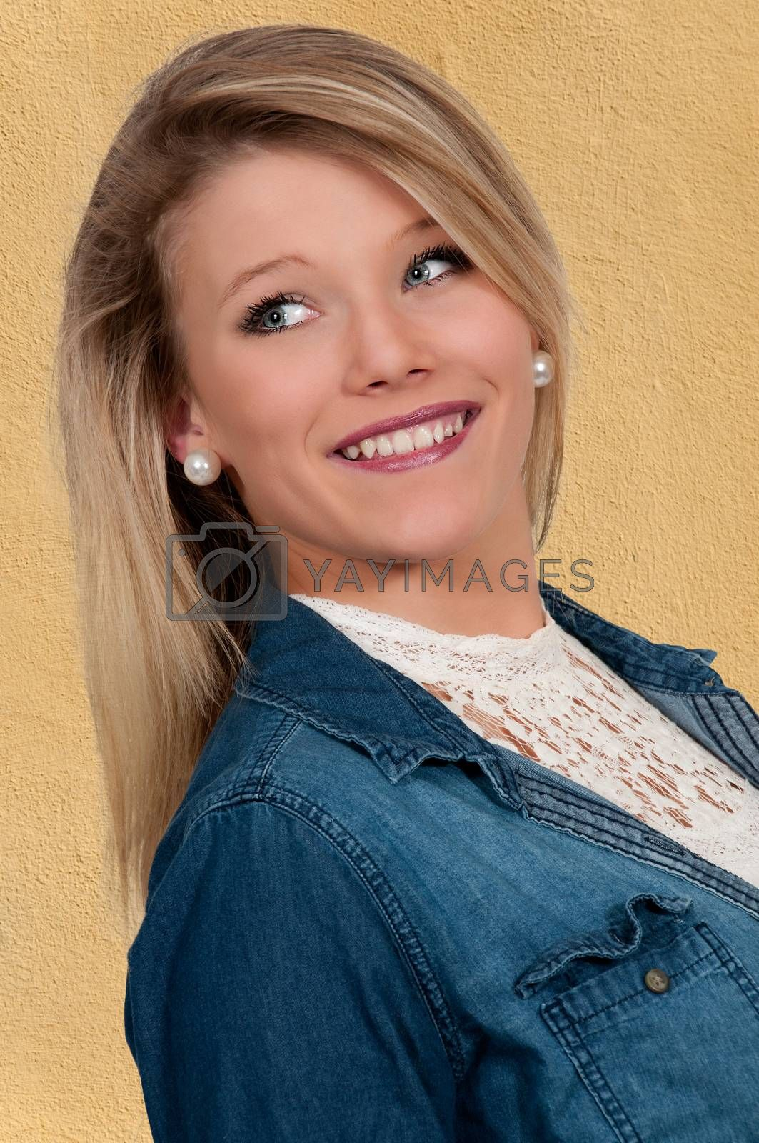 Young Beautiful Woman with a lovely smile