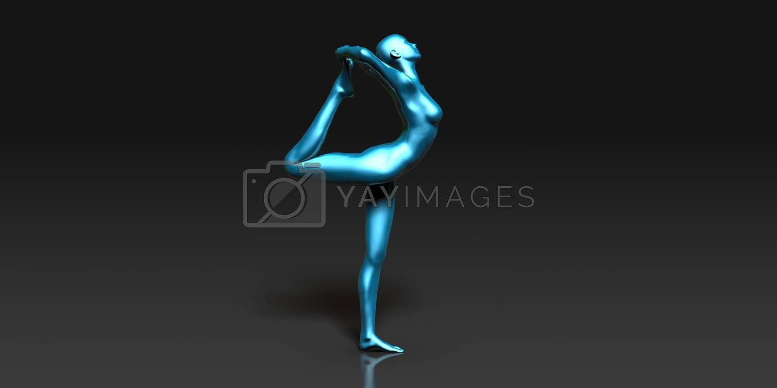 Yoga Class, the King Dancer Basic Pose Stance