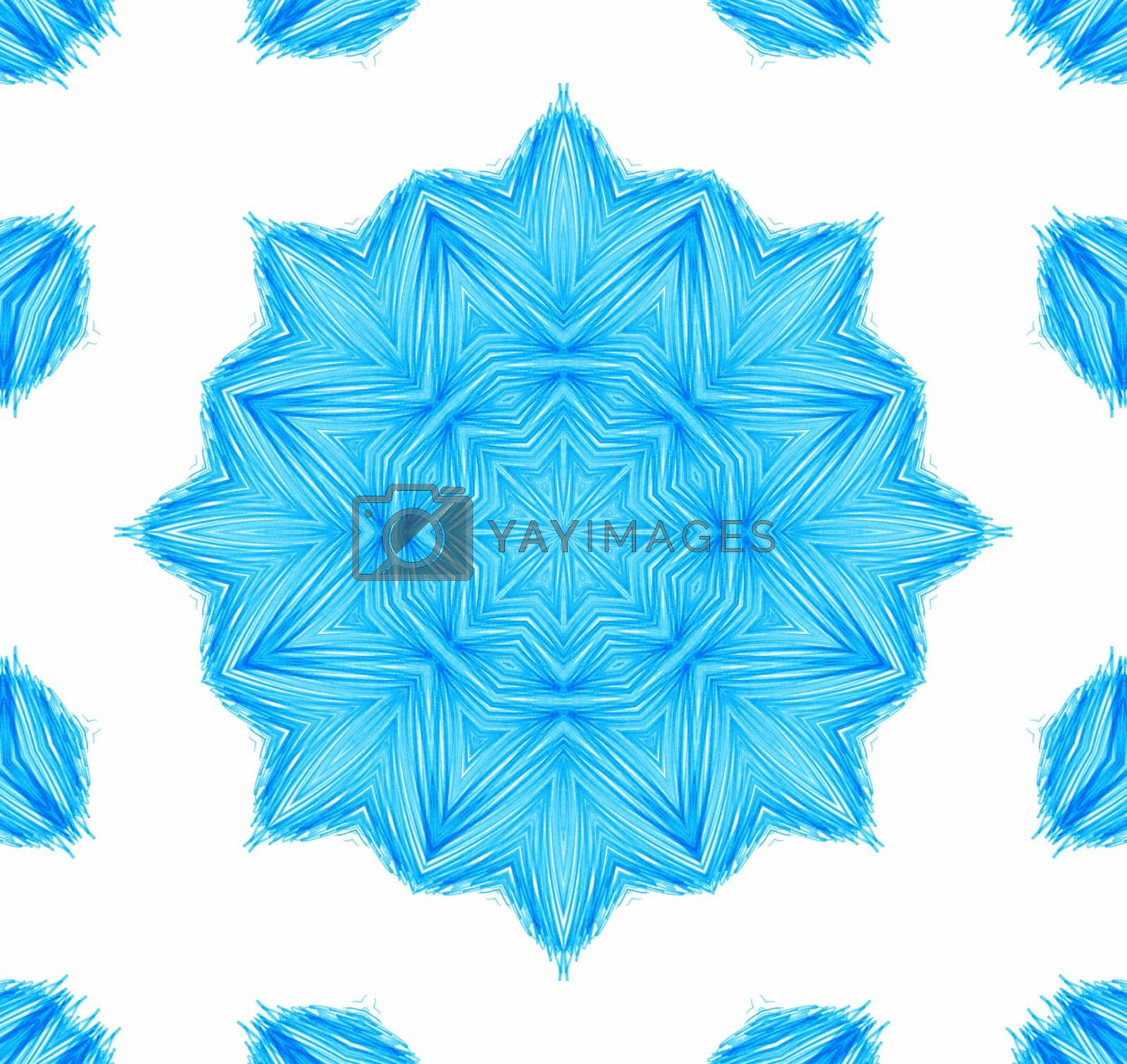 Abstract blue concentric pattern on white background for design