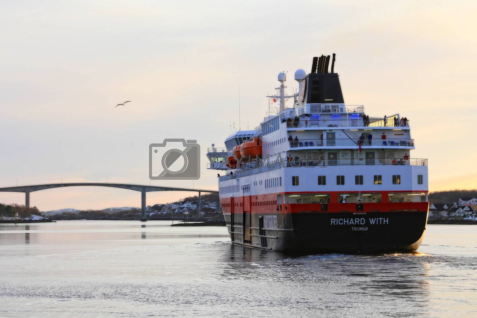 Royalty free image of M.s Richard With by post@bronn.no