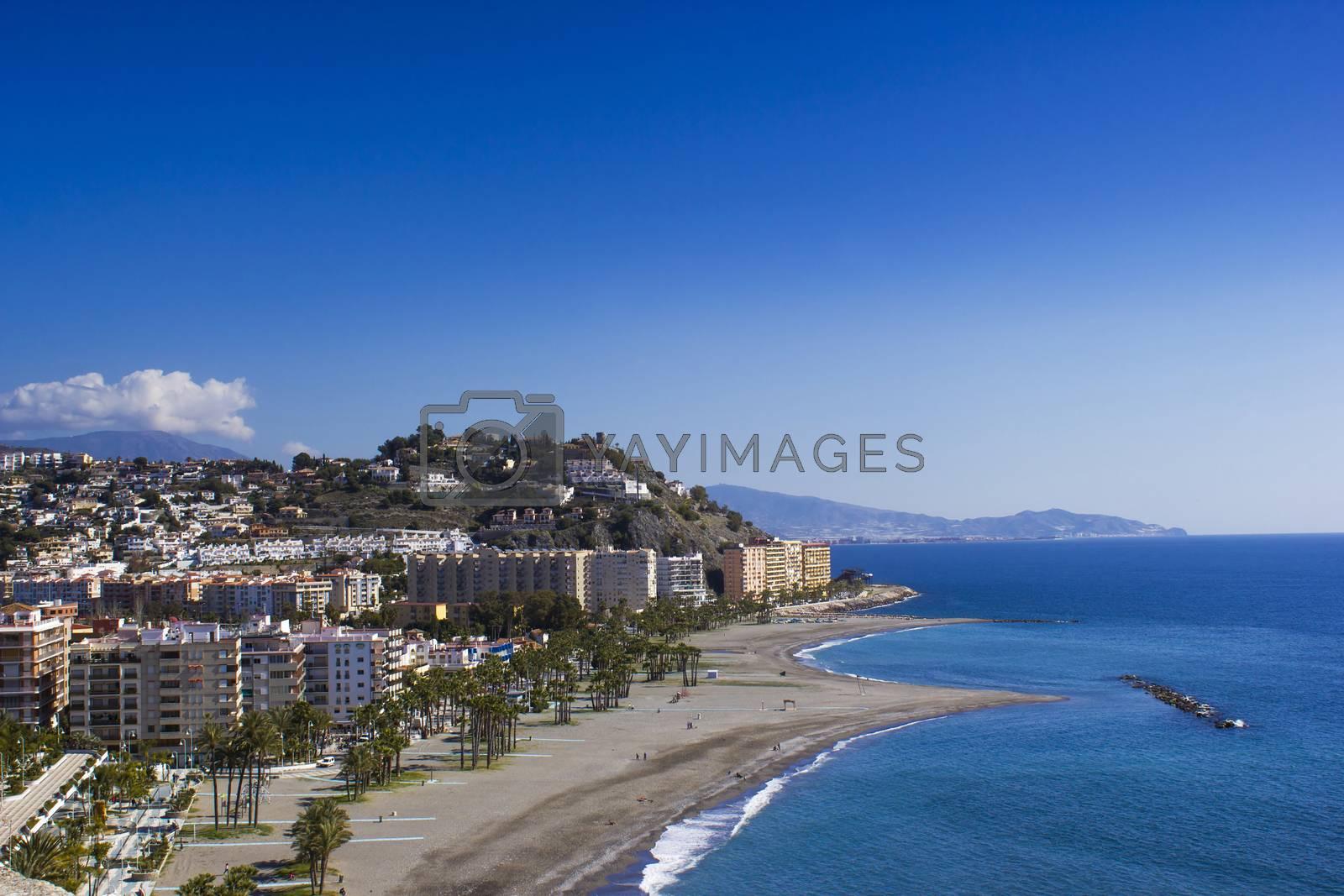 Playa De La Caletilla, Almunecar, Andalusia, Spain