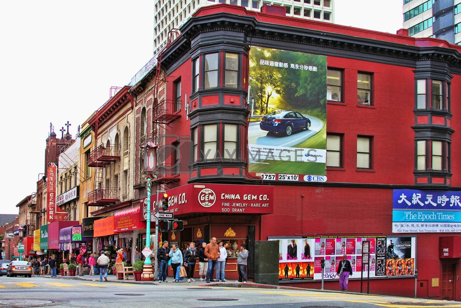 San Francisco, USA - September 15, 2011: People walking in one of the busy streets in San Francisco.