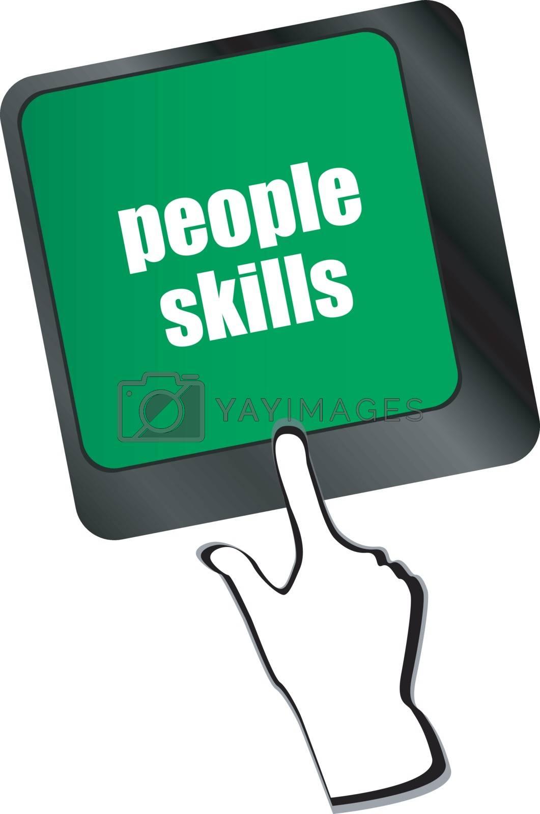 people skills words, message on enter key of keyboard
