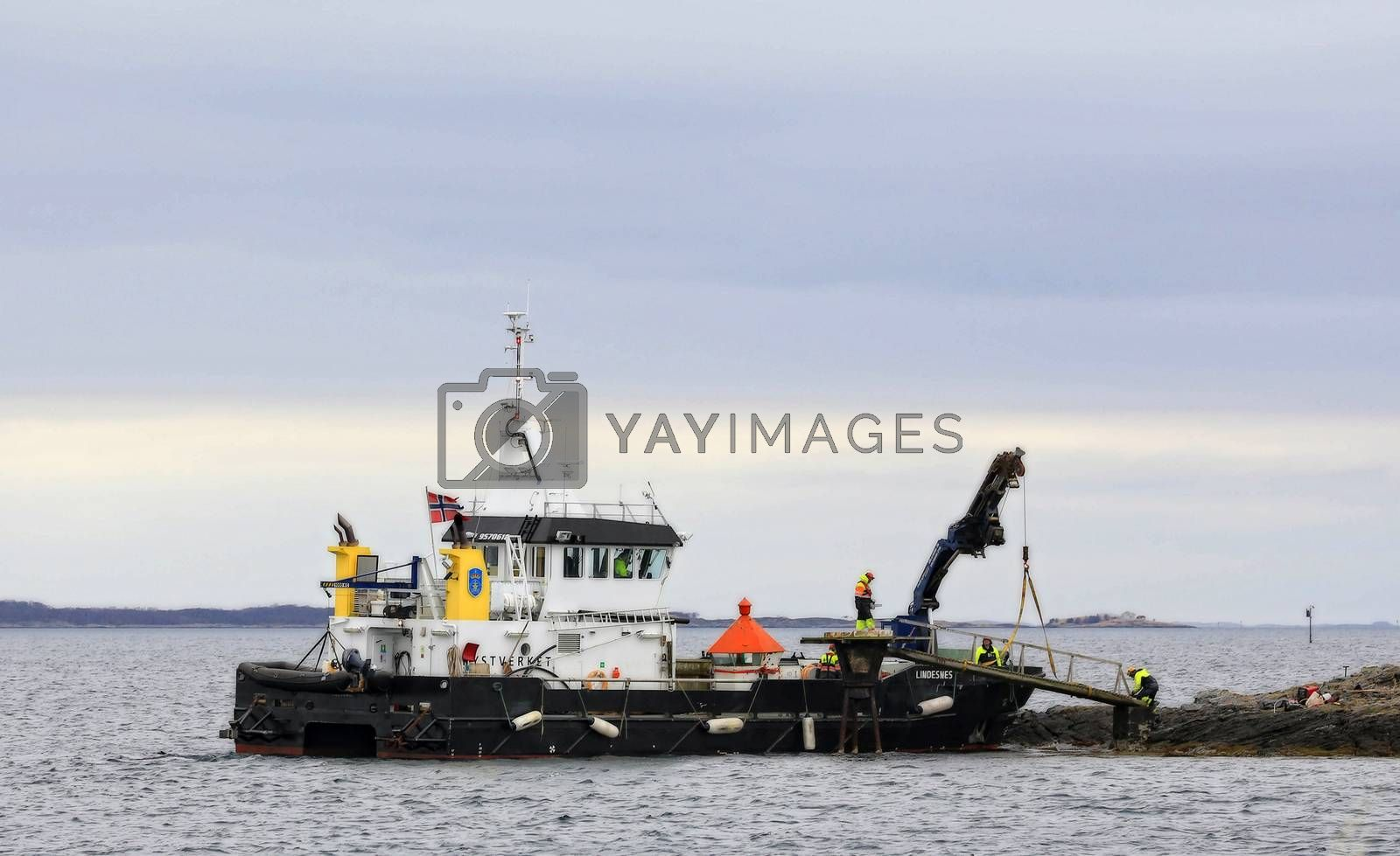 Royalty free image of M.s Lindenes by post@bronn.no