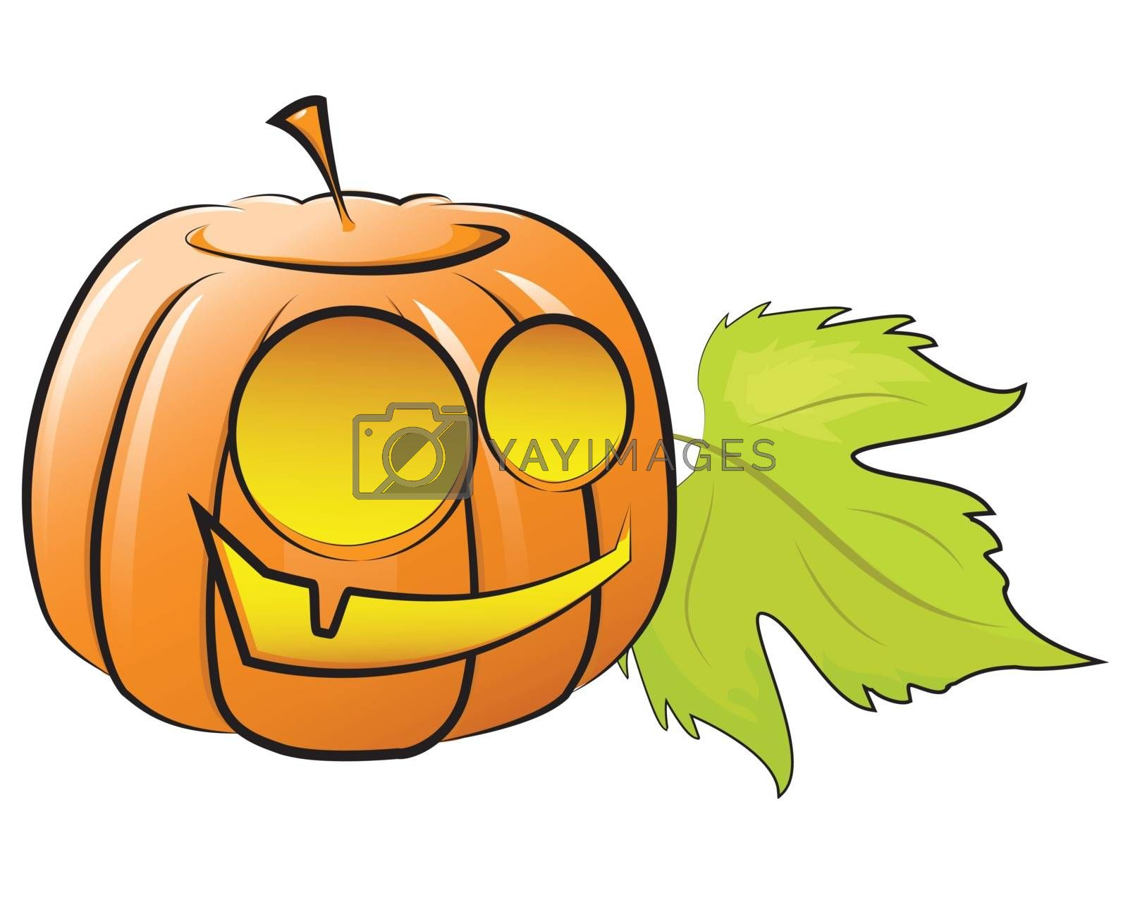 Vector illustration. fun pumpkin decorating for Halloween