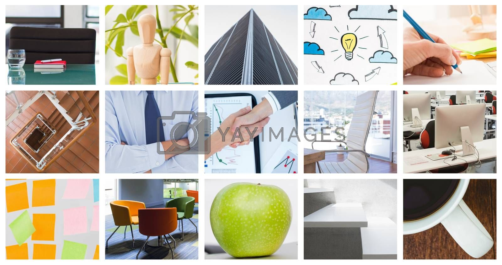 Royalty free image of Composite image of businesswomen reaching an agreement by Wavebreakmedia