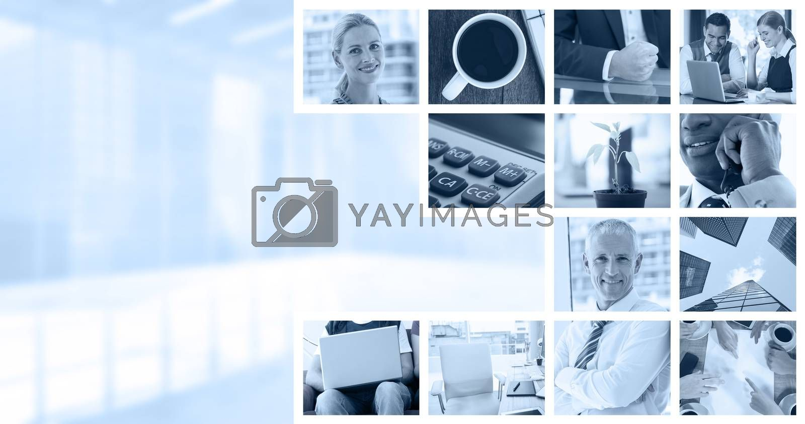 Royalty free image of Composite image of plant on desk in the office by Wavebreakmedia
