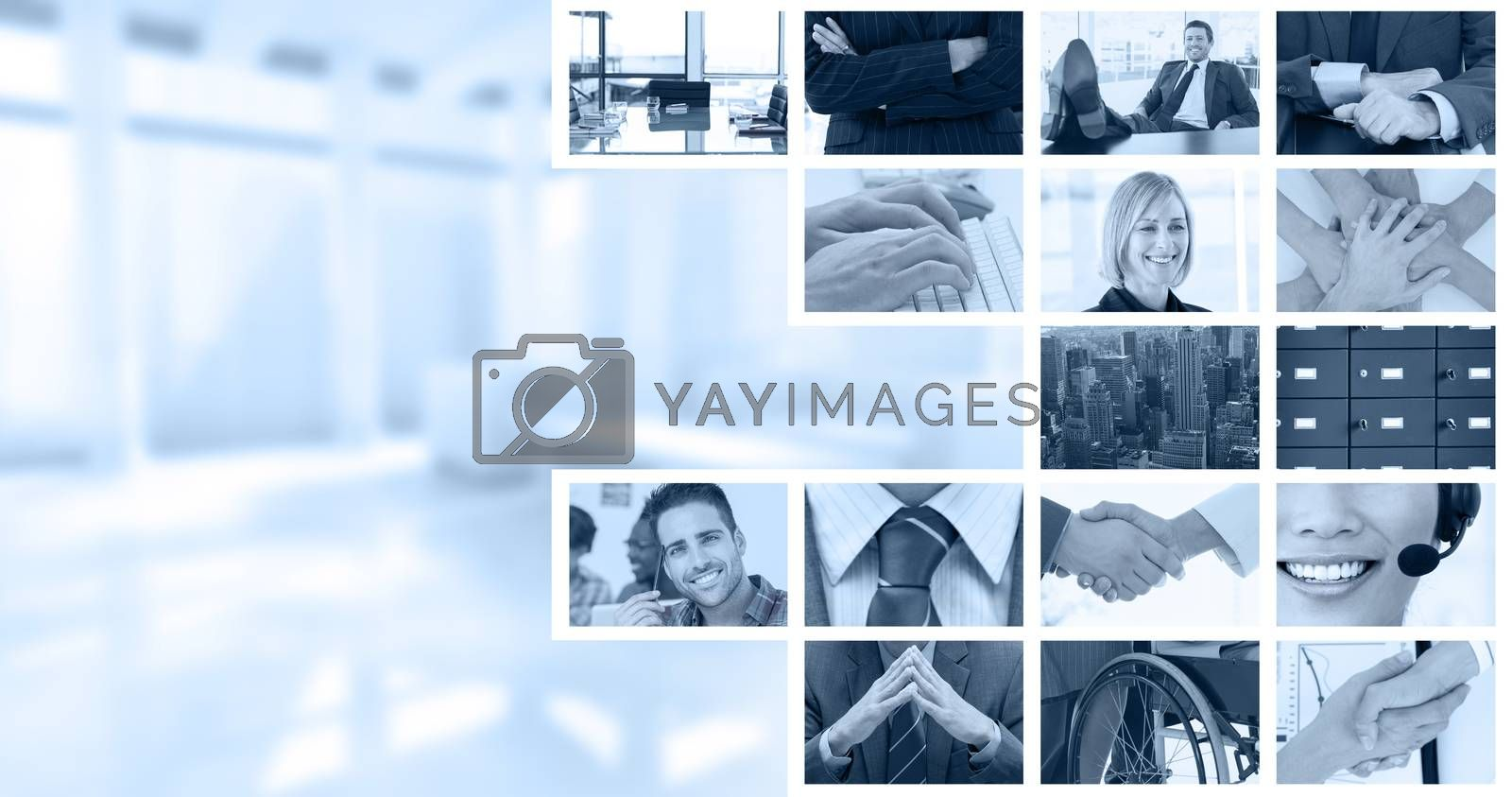 Royalty free image of Composite image of shaking hands over eye glasses and diary after business meeting by Wavebreakmedia