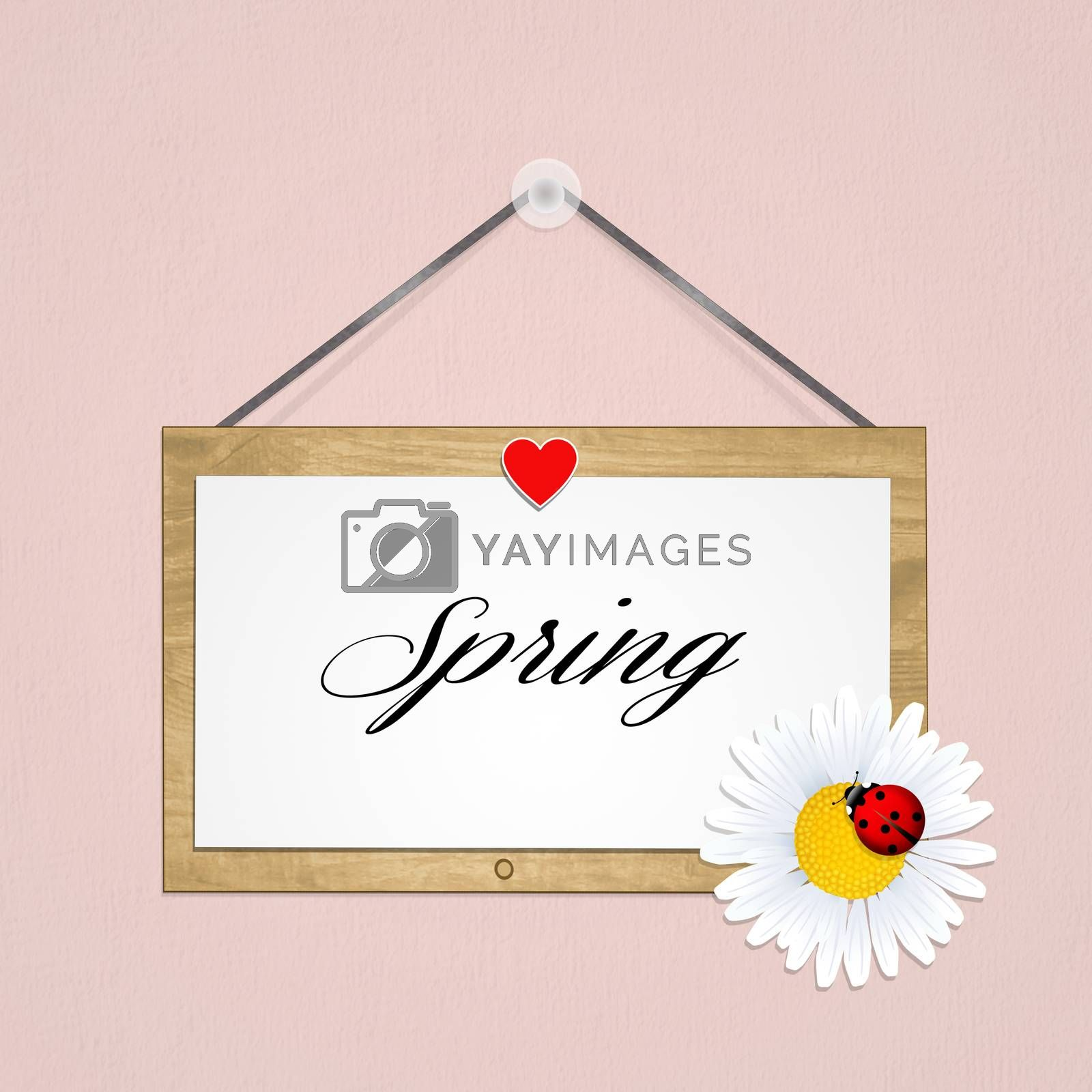 illustration of spring sign