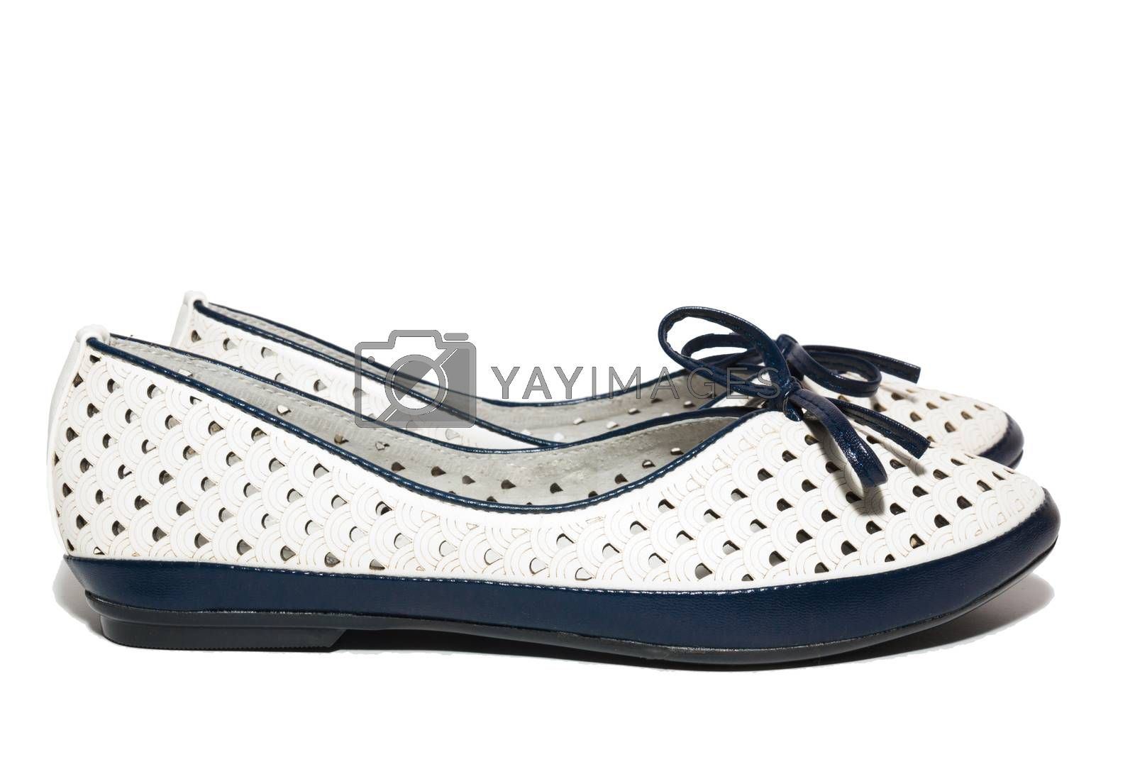 Royalty free image of shoes on a white background by AlexBush