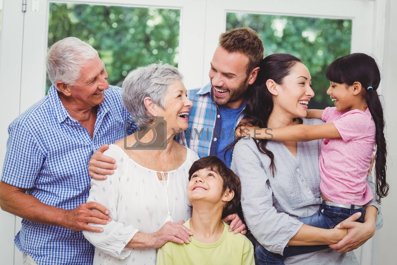 Cheerful multi generation family  by Wavebreakmedia