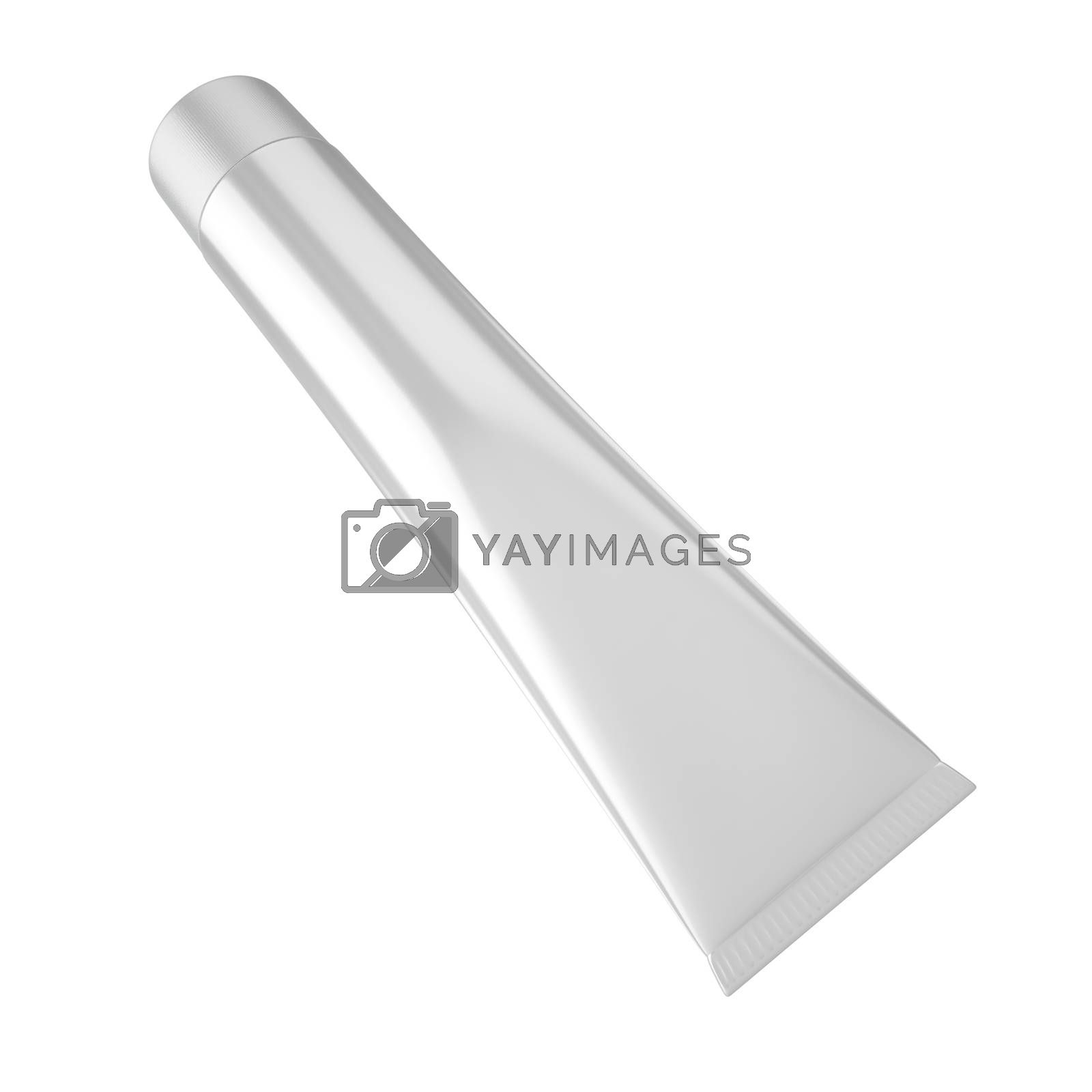Toothpaste Tube for Cosmetic Package Mock up. Easa place your design on this blank surface.