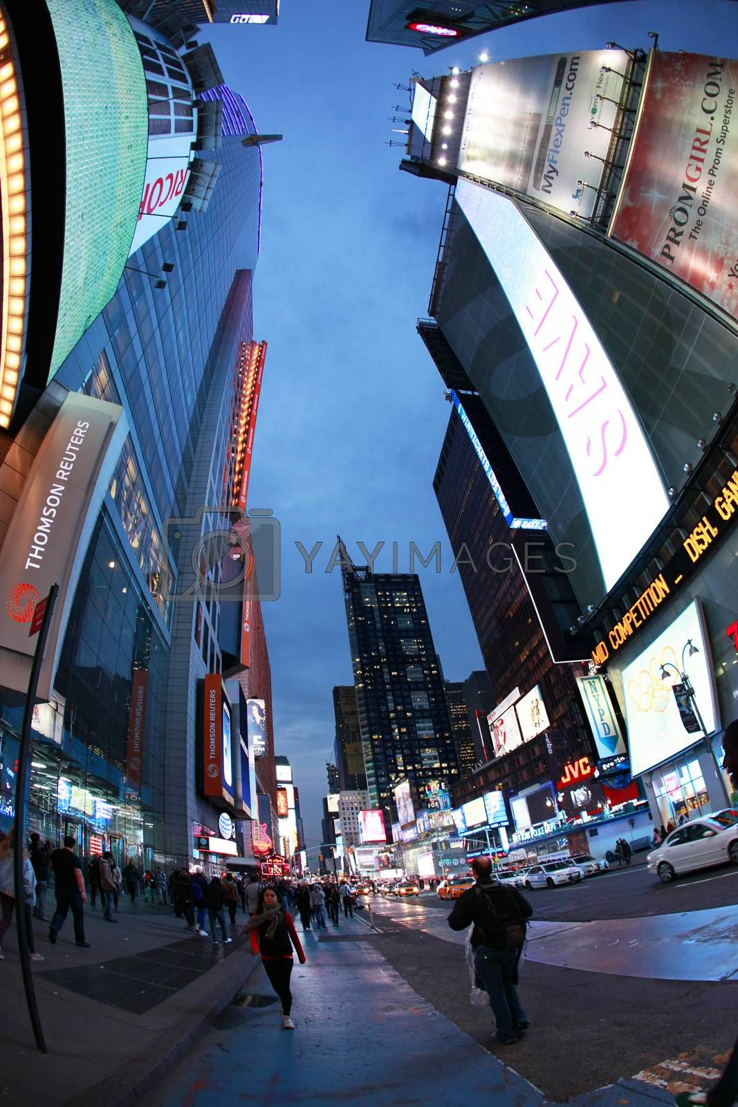 New York, USA - October 9, 2012: Times Square, featured with Broadway Theaters and huge number of LED signs, is a symbol of New York City and the United States, Manhattan, New York City