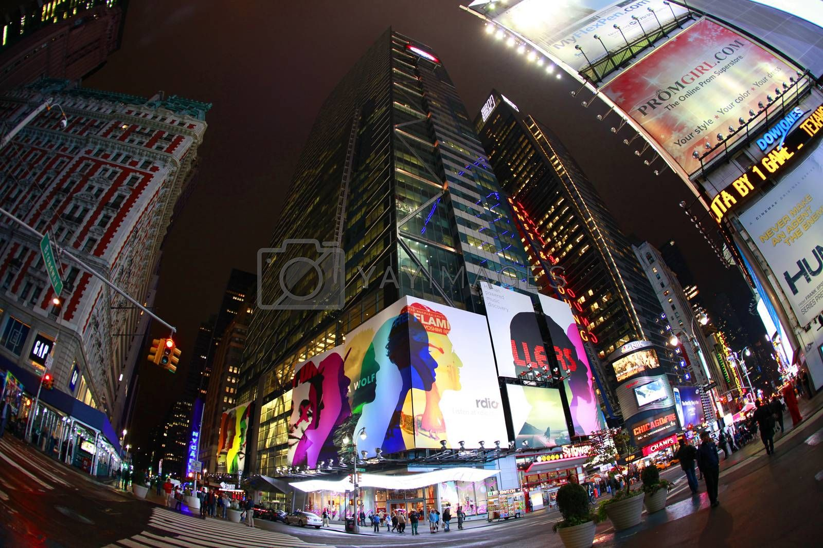 New York, USA - October 10, 2012: Times Square, featured with Broadway Theaters and huge number of LED signs, is a symbol of New York City and the United States, Manhattan, New York City