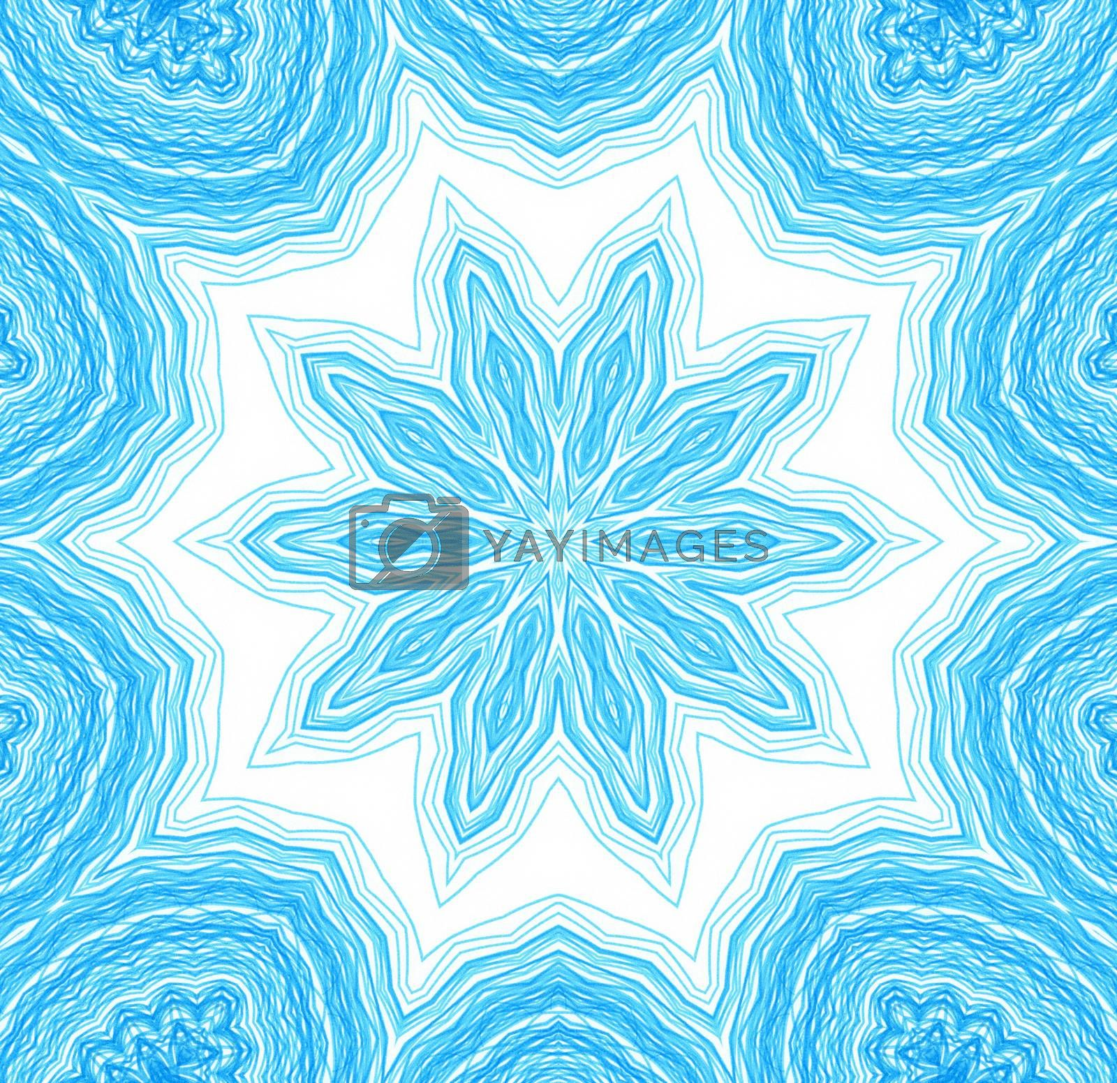 Abstract blue concentric pattern for design on white background