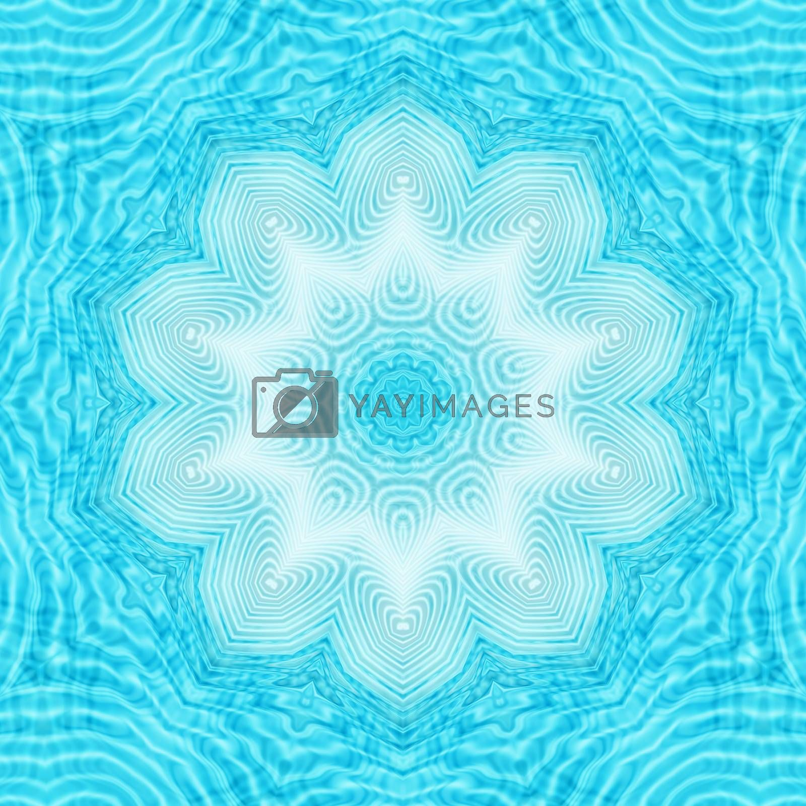 Abstract water ripples pattern by dink101