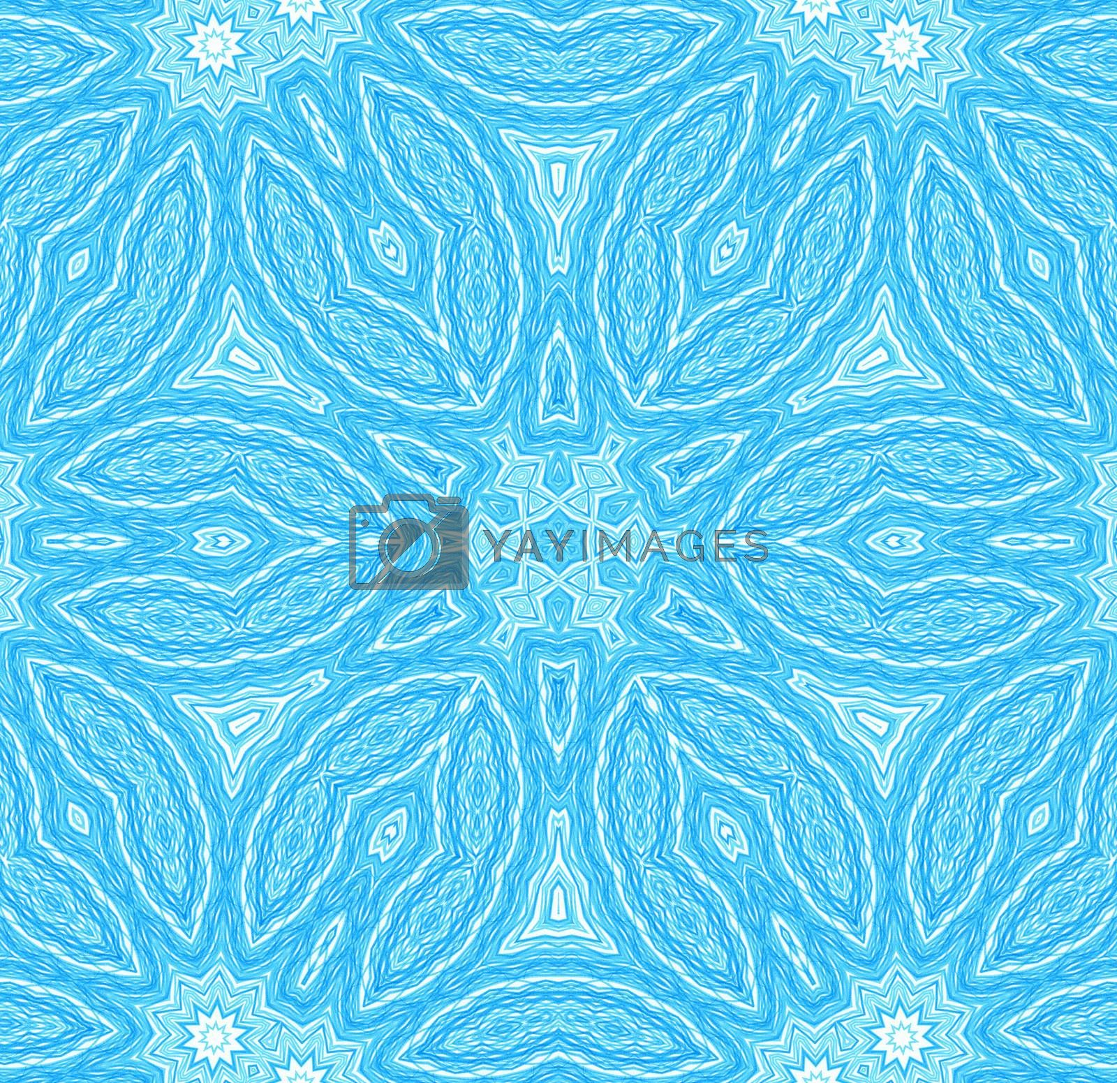 Abstract blue concentric pattern for design