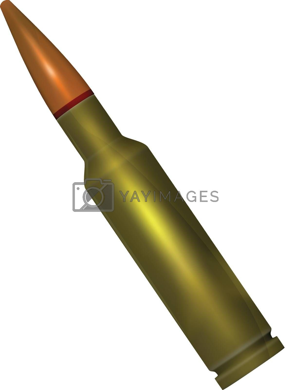 ammunition with a bullet for the weapon a vector gradient mesh