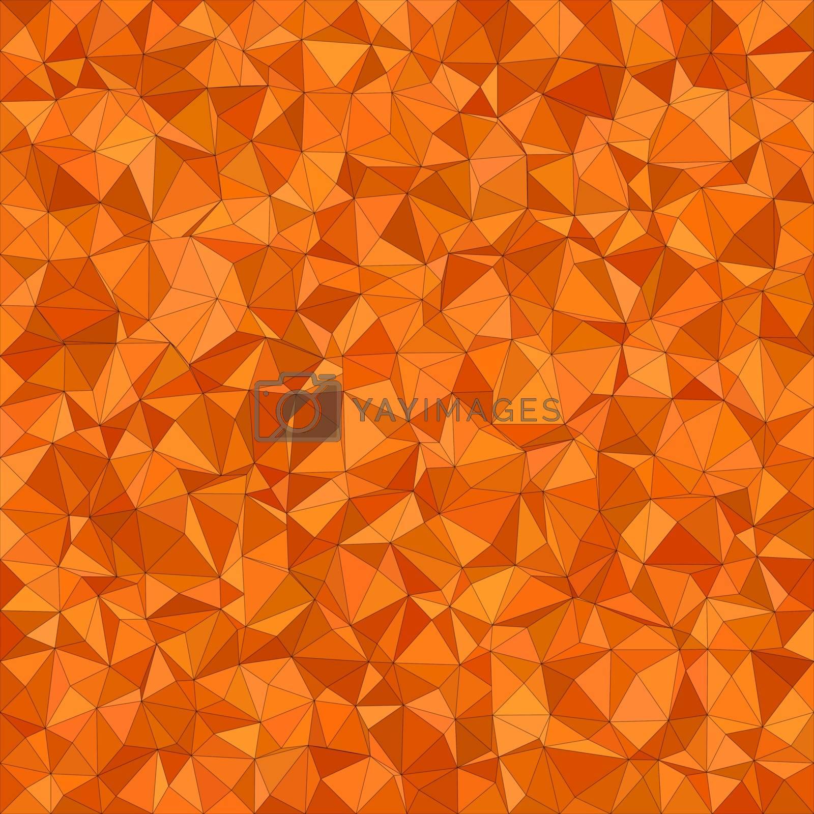 Orange irregular triangle mosaic vector background design