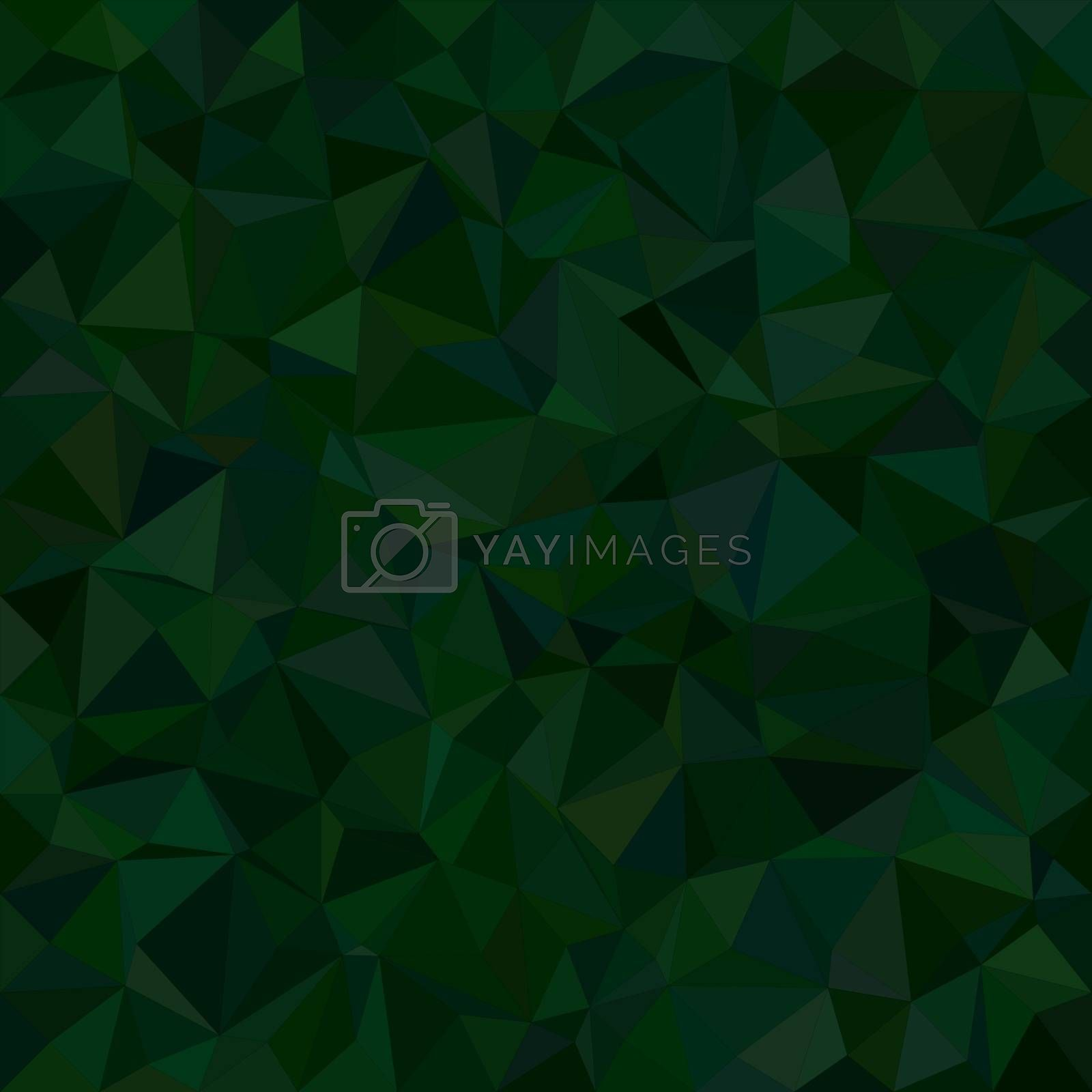 Dark green irregular triangle mosaic vector background design