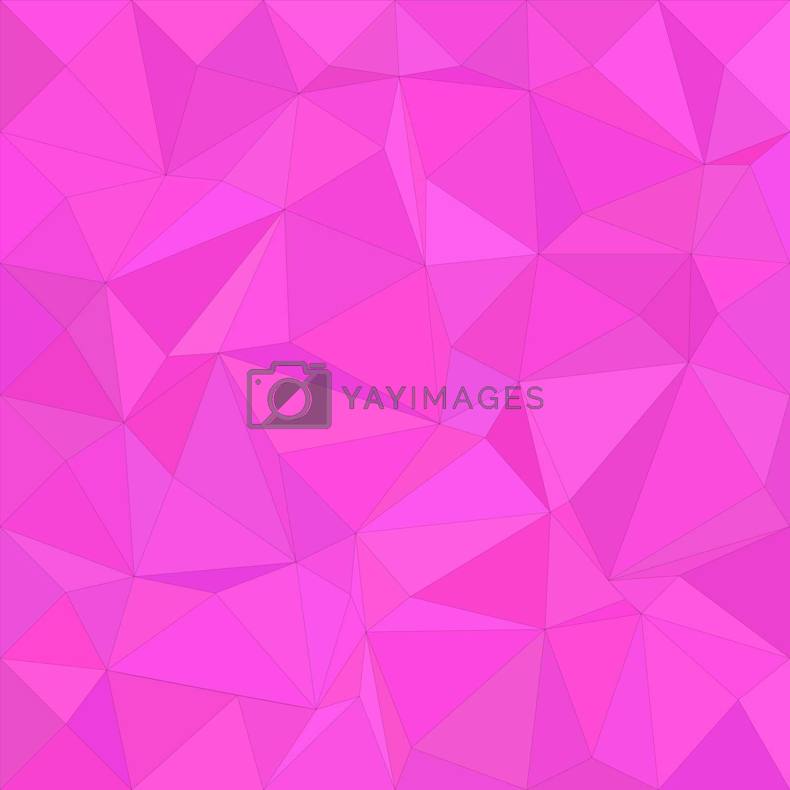Magenta irregular triangle mosaic vector background design