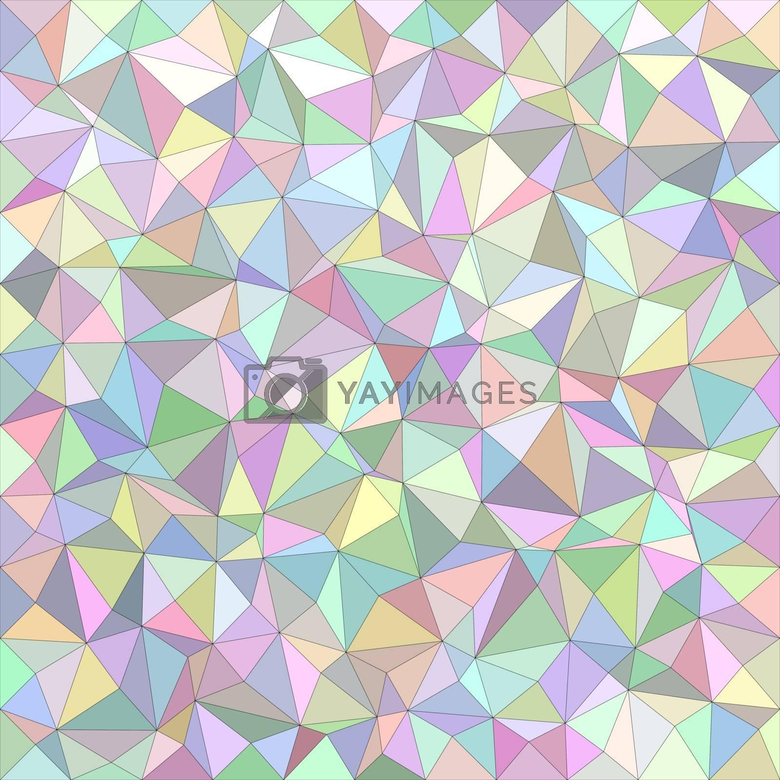 Light color irregular triangle mosaic vector background design