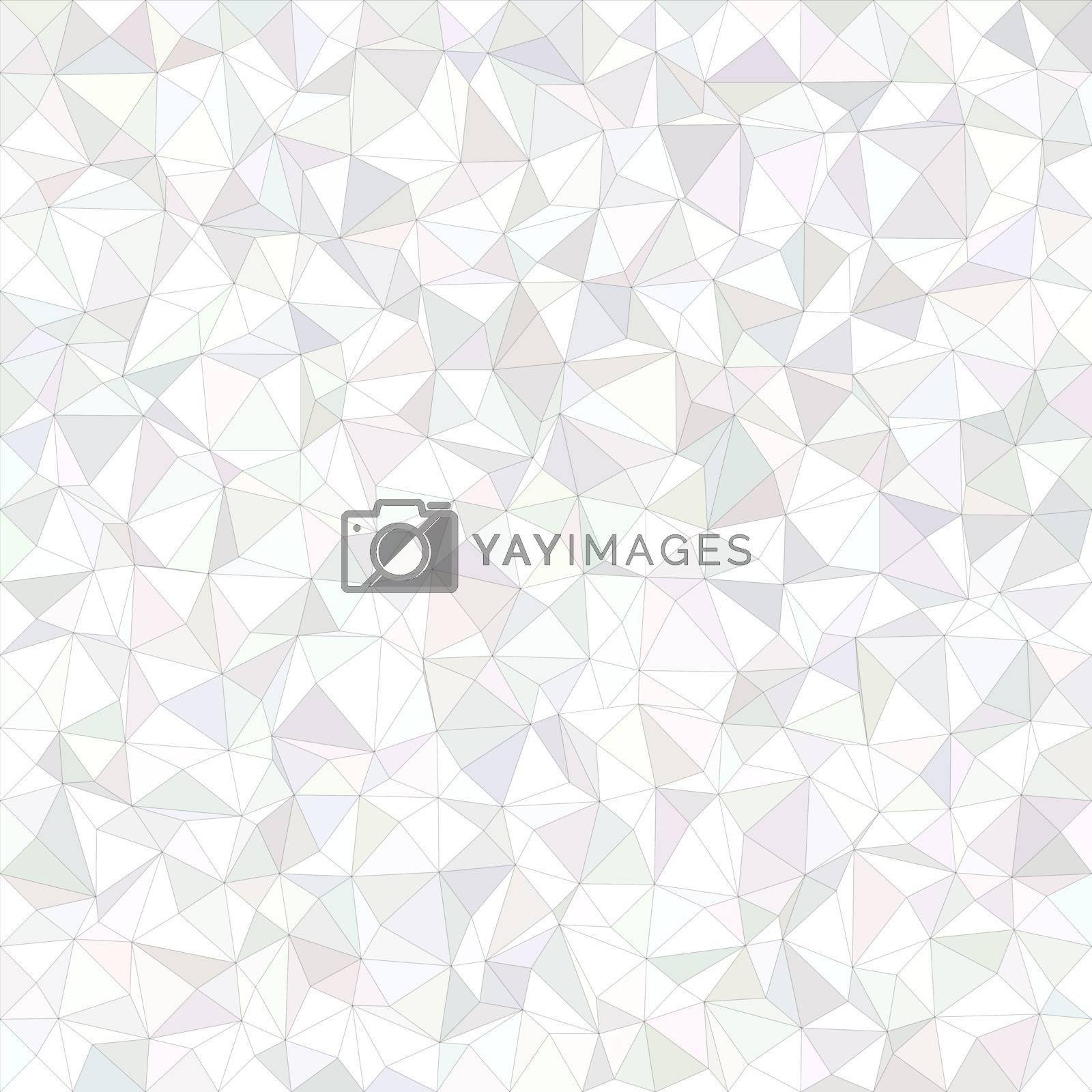White irregular triangle mosaic vector background design