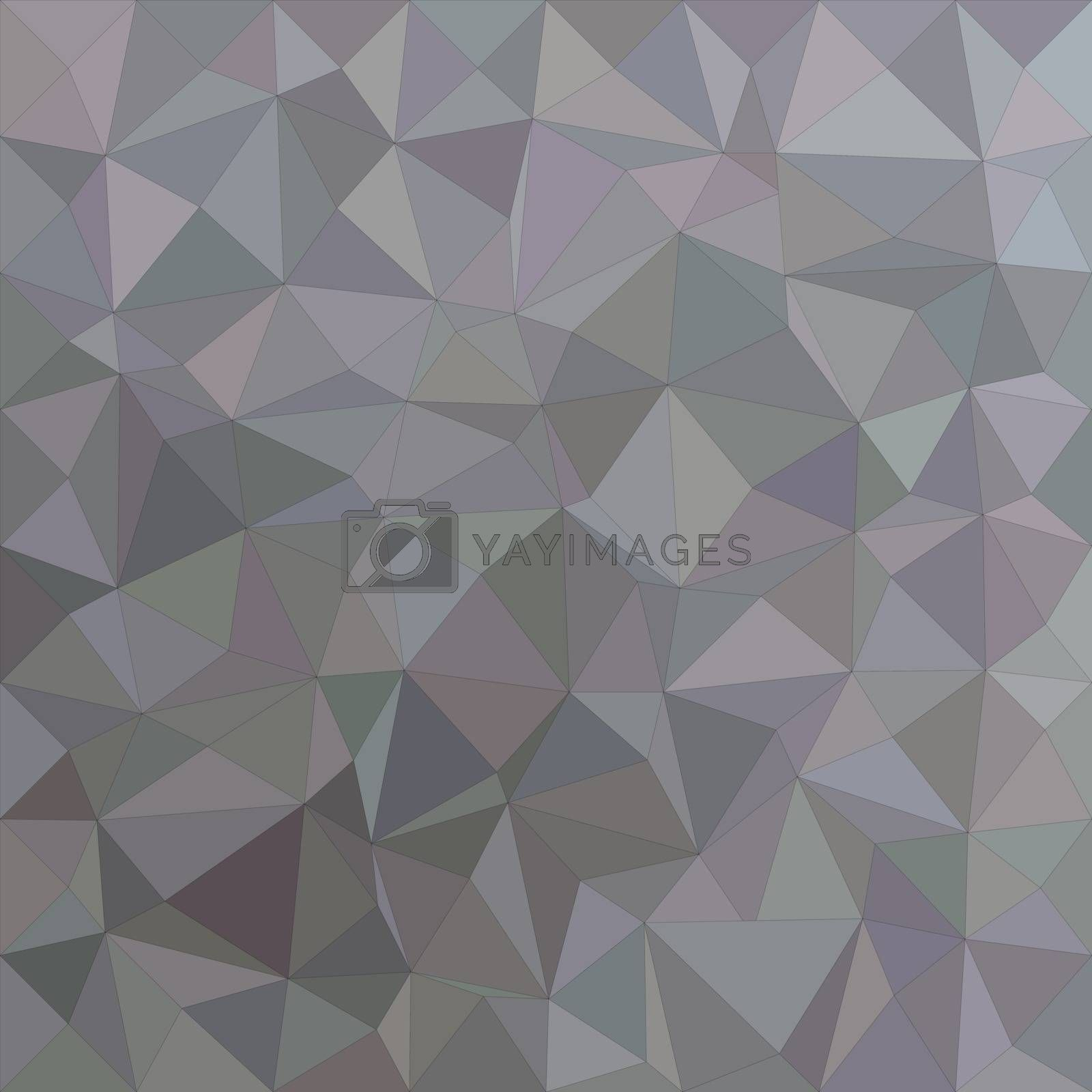 Grey irregular triangle mosaic vector background design
