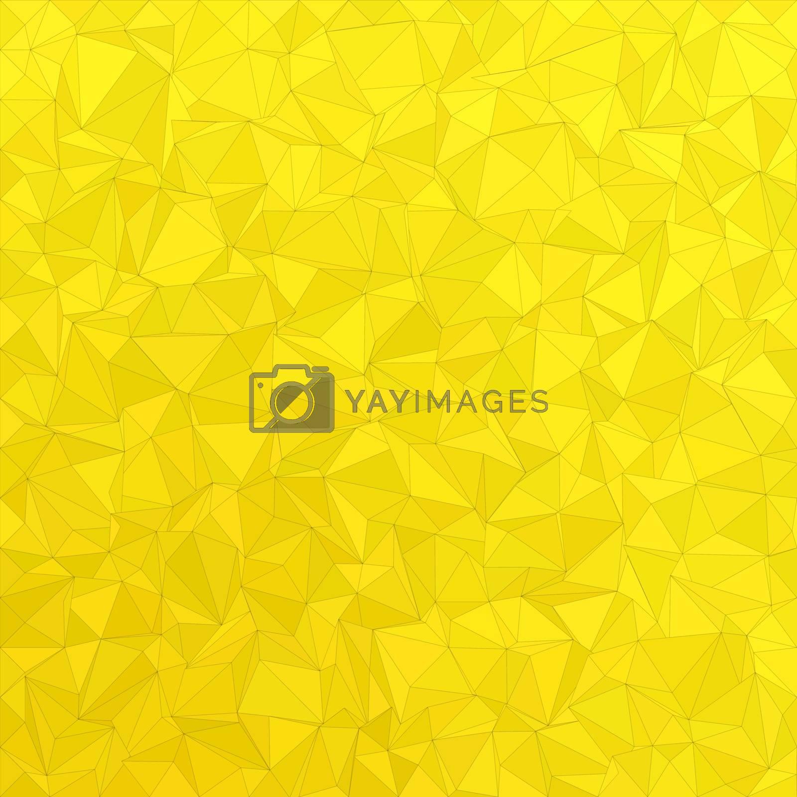 Golden irregular triangle mosaic vector background design