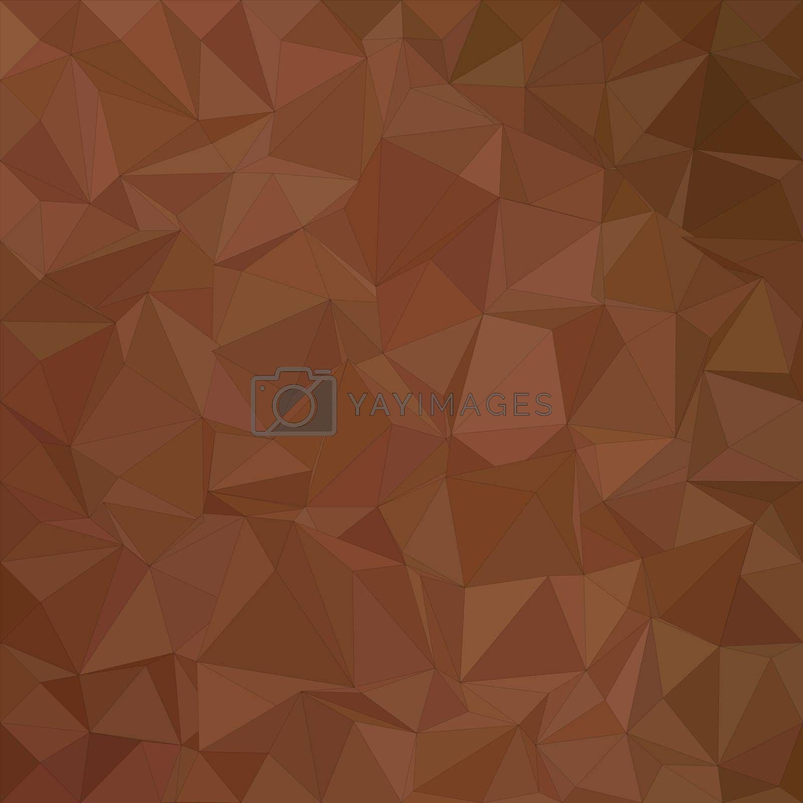 Brown irregular triangle mosaic vector background design