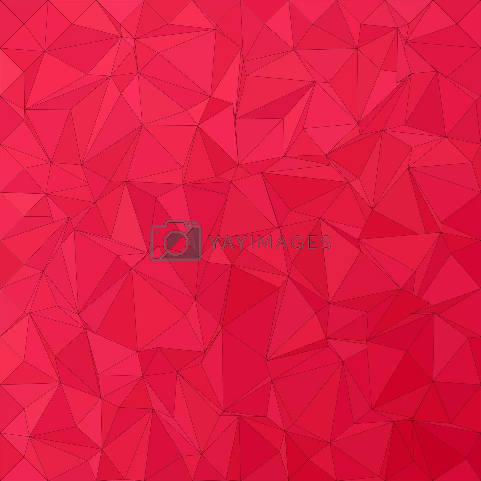 Crimson irregular triangle mosaic vector background design