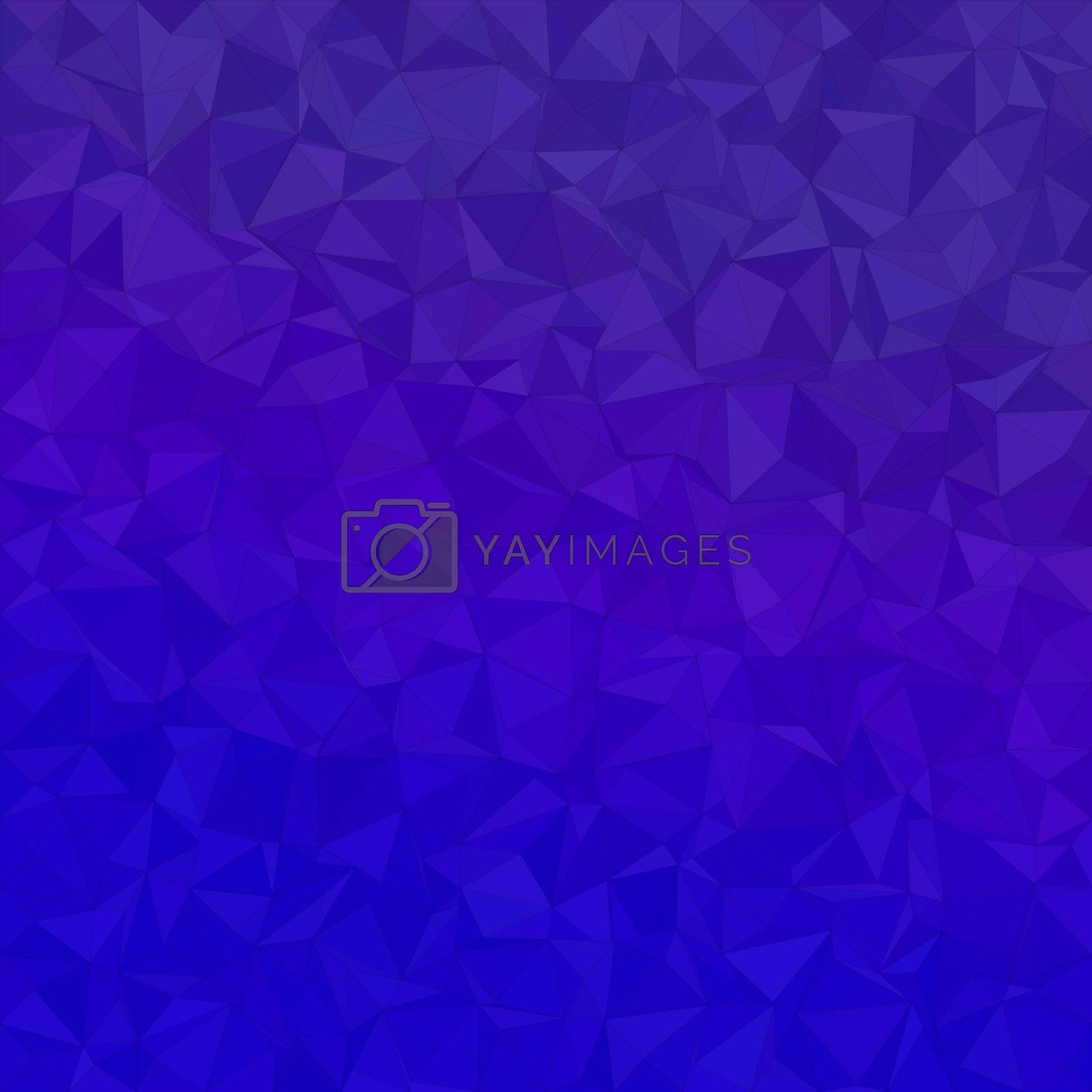 Blue irregular triangle mosaic vector background design