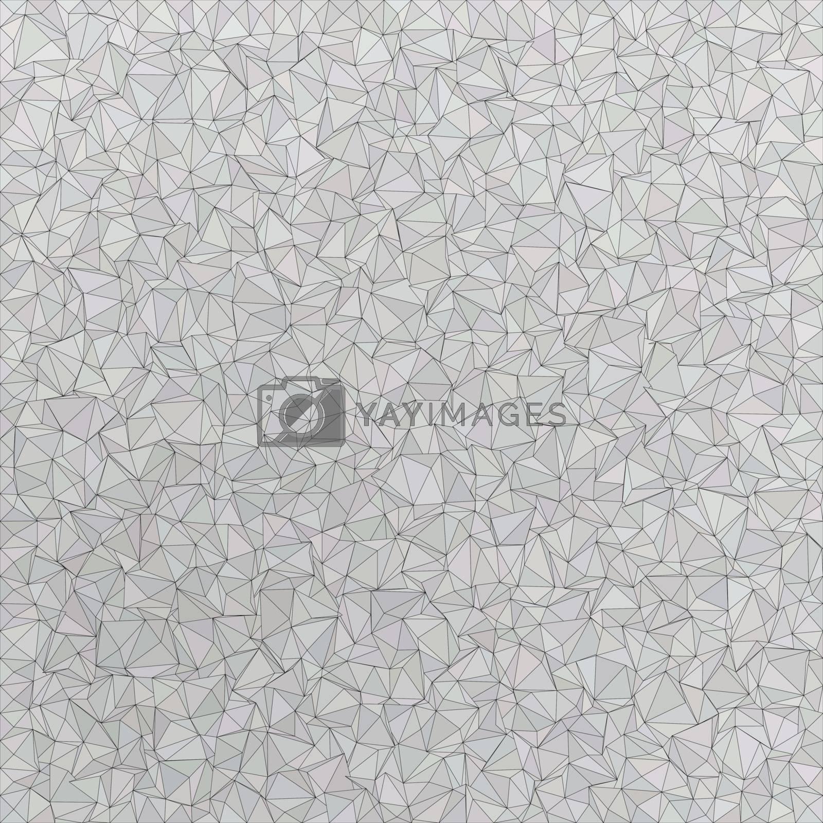 Silver irregular triangle mosaic vector background design