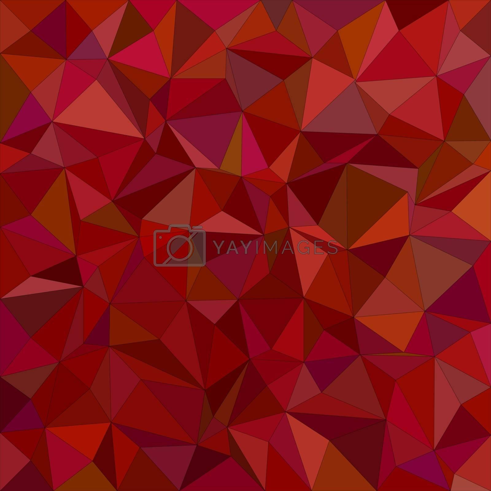 Maroon irregular triangle mosaic vector background design