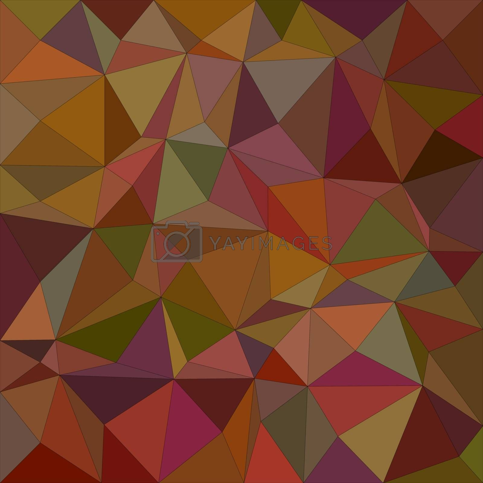 Brown colorful irregular triangle mosaic vector background design
