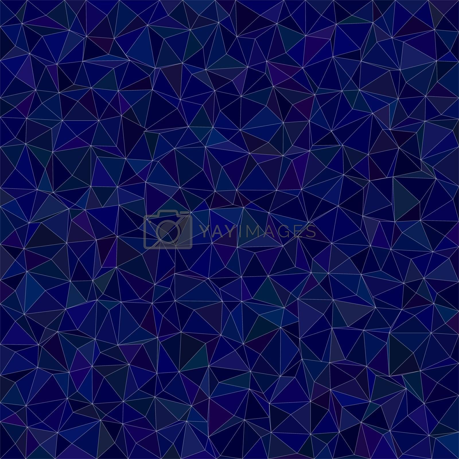 Dark blue irregular triangle mosaic vector background design