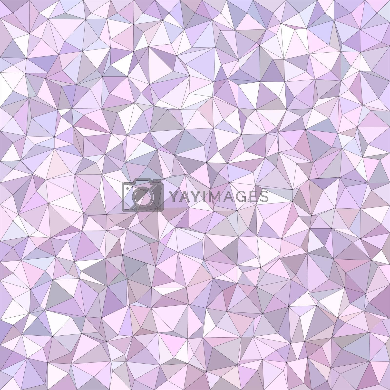 Light purple irregular triangle mosaic vector background design