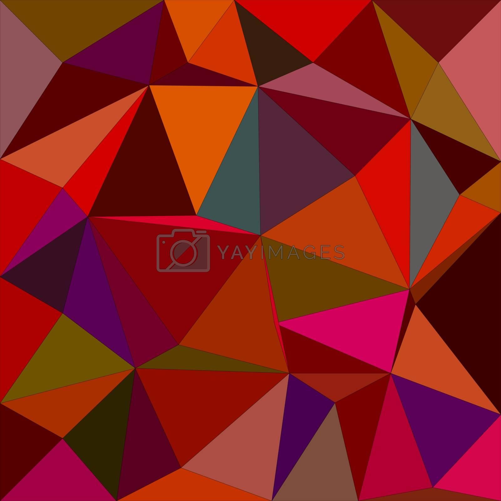 Dark color irregular triangle mosaic vector background design