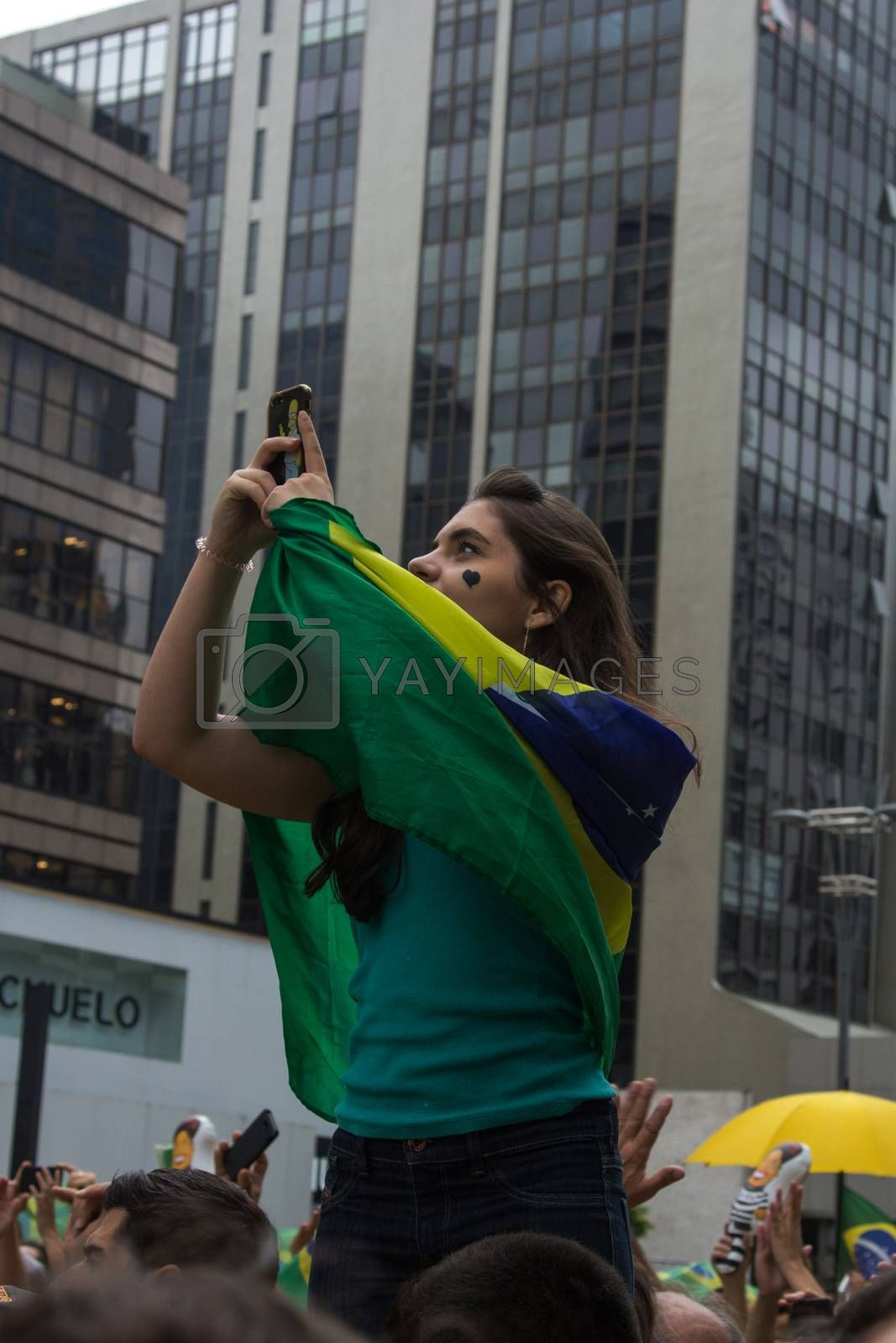Royalty free image of Protest against federal government corruption in Brazil by marphotography