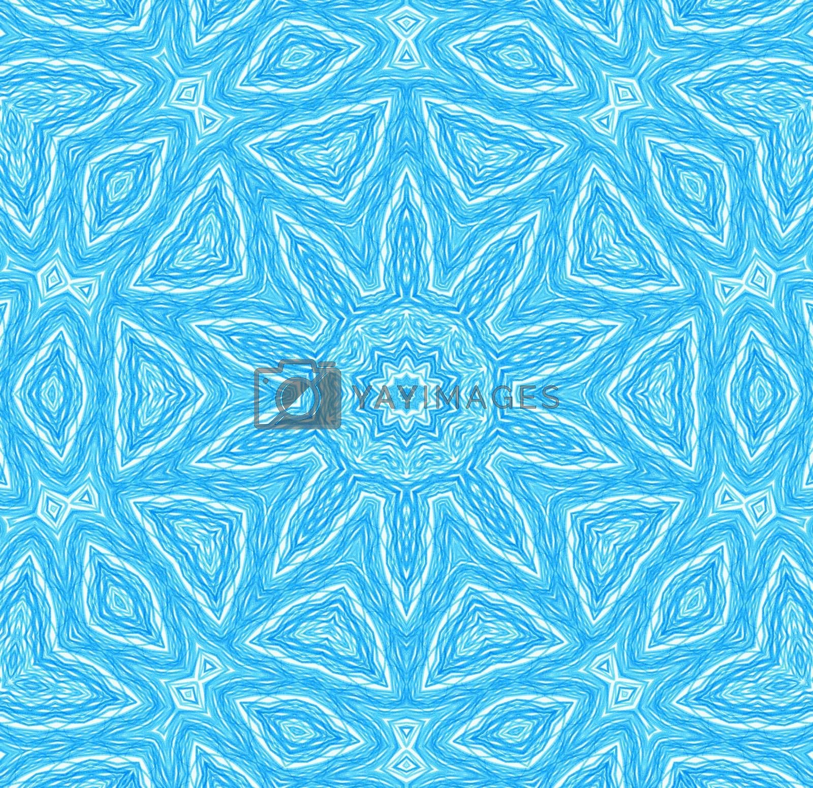 Abstract blue concentric pattern by dink101