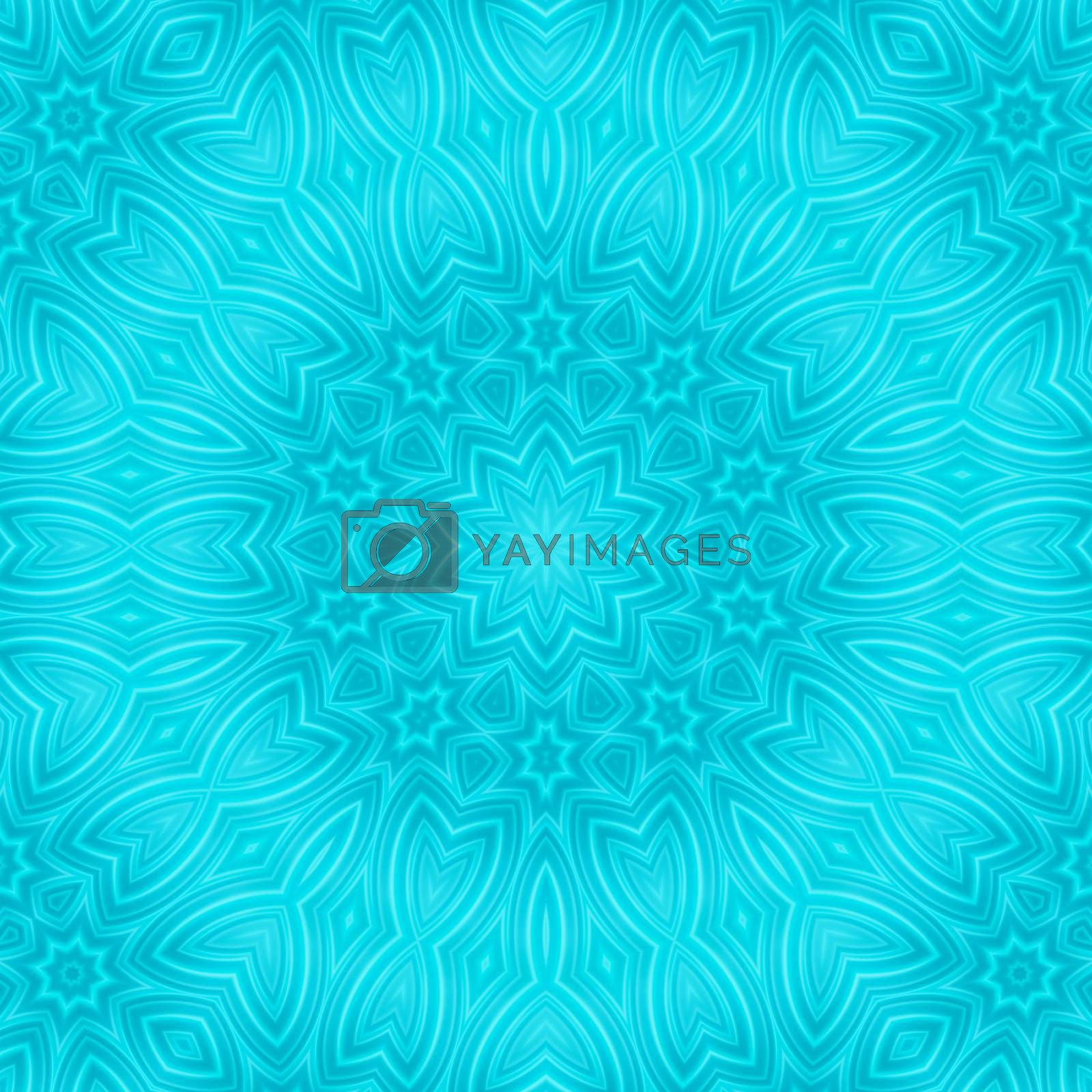Blue background with abstract concentric pattern