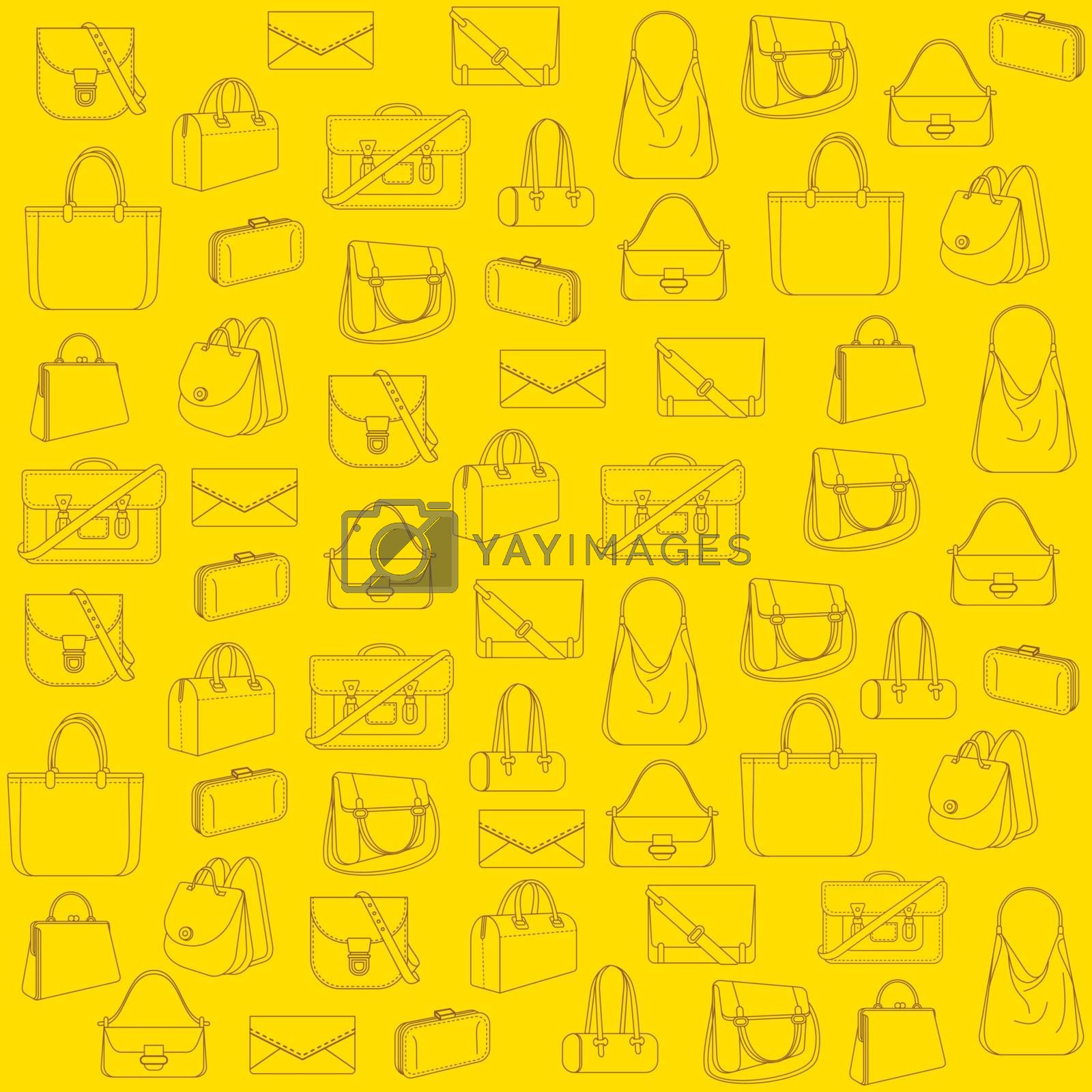 creative fashion bag pattern background vector