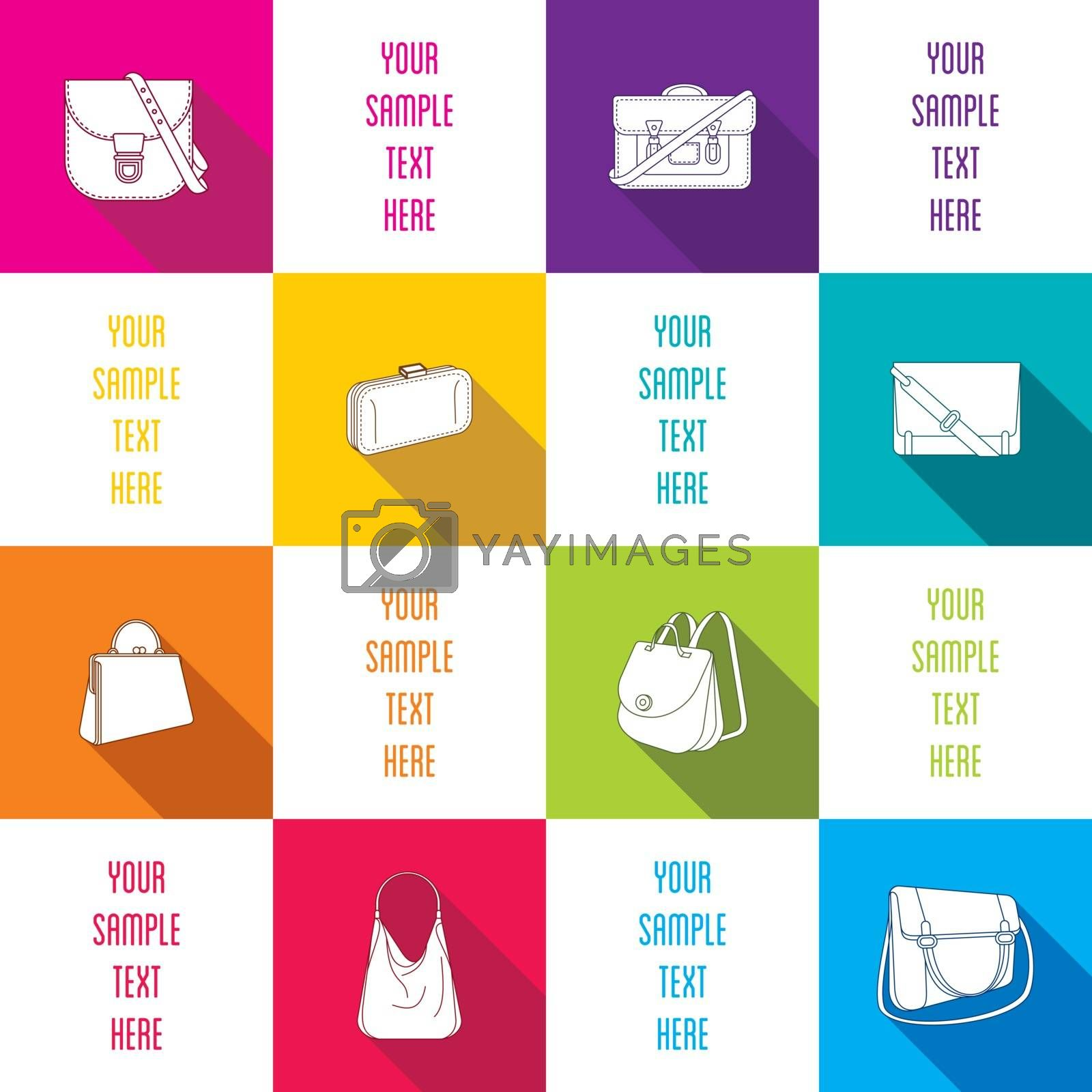 creative fashion bag info-graphics design vector