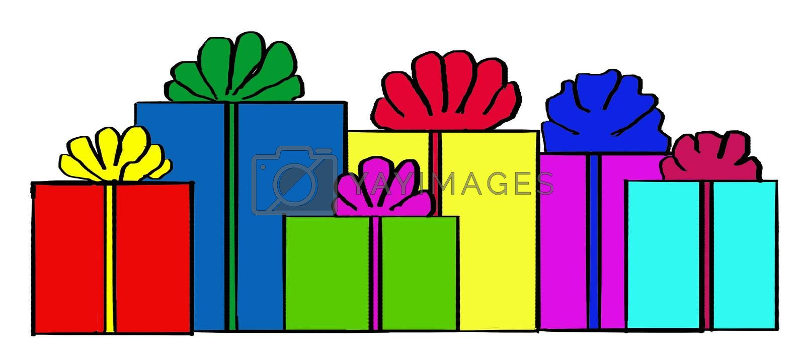 The picture shows the New Year's gifts