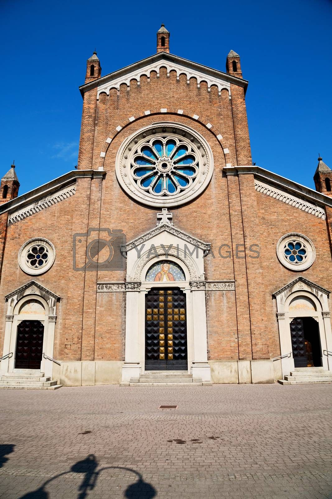building old architecture in italy europe milan religion      and sunlight