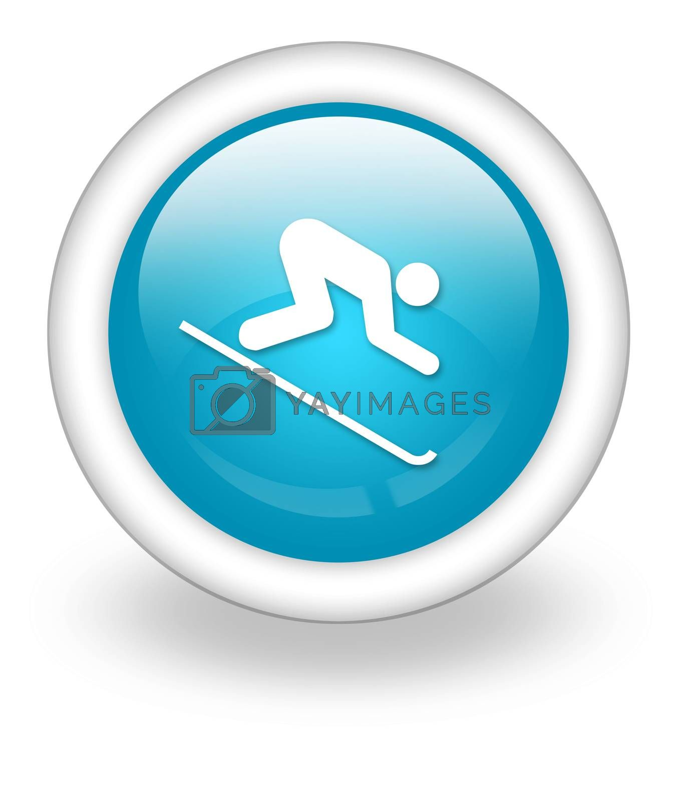 Icon, Button, Pictogram Downhill Skiing by mindscanner