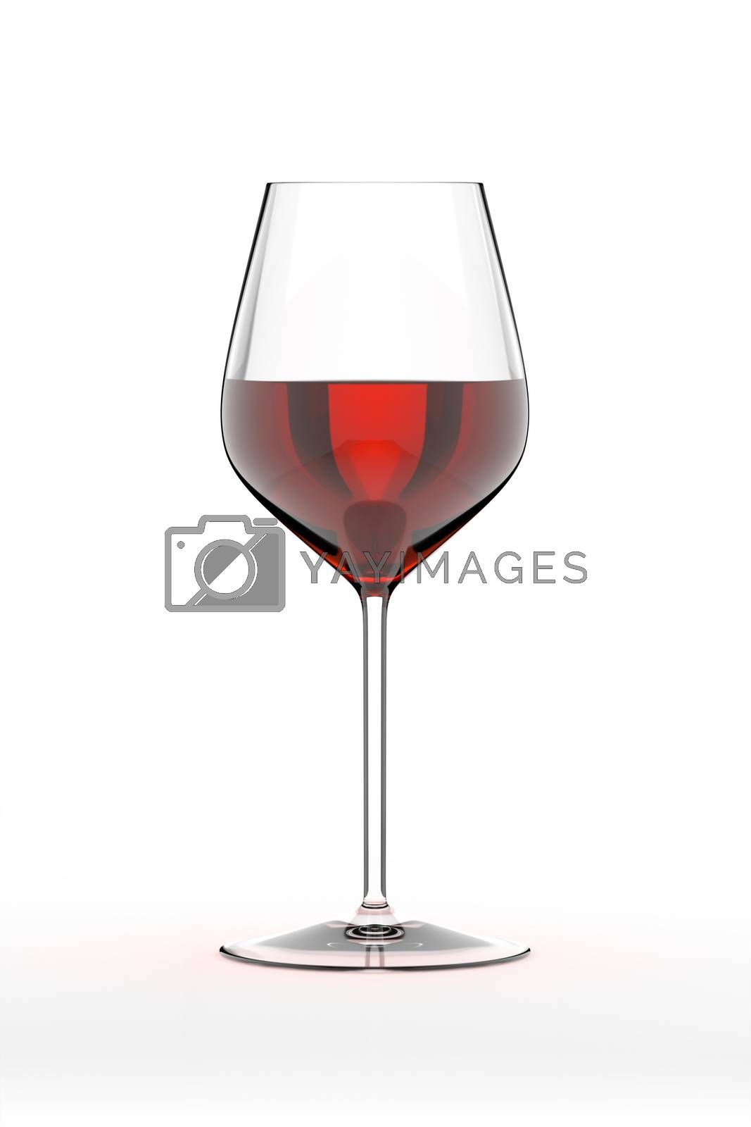 glass of red wine by magann