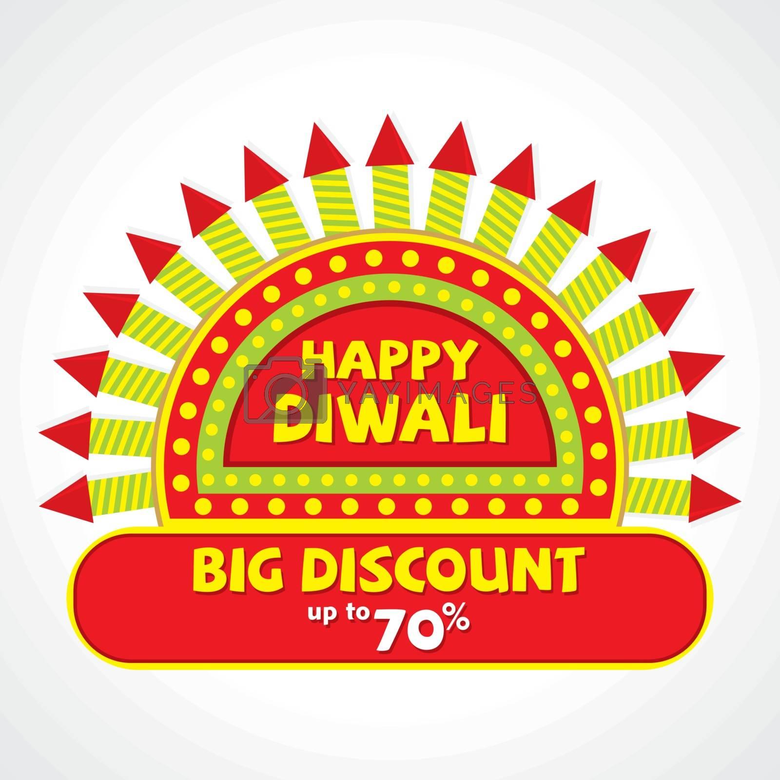 creative offer banner of diwali festival design vector by vectoraart