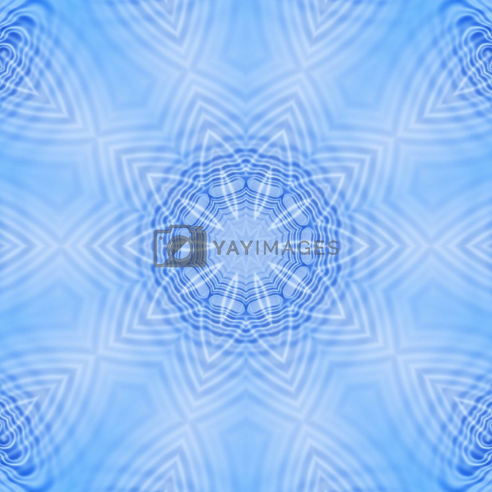 Blue abstract pattern by dink101